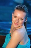 Attractive woman in spa — Stock Photo