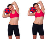 Young woman exercise — Stock Photo