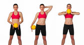 Young woman exercise routine — Stock Photo