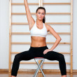 Stockfoto: Fit womexercise