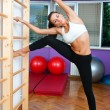 Attractive woman exercise — Stock Photo