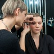 Make up artist at work — Stock fotografie
