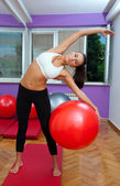 Fit woman exercise — Stock Photo