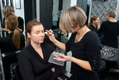 Make up artist at work — Stock Photo