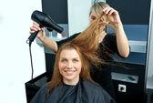 Drying hair — Stock Photo