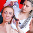 Hair and make up stylist at work — Stock Photo #26351231