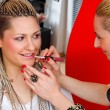 Make up stylist at work - Foto de Stock