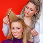 Hair stylist at work — Stock Photo #26352313
