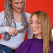 Hair stylist at work — Stock Photo #26352815