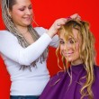 Hair stylist at work — Stock Photo #26353143