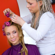 Hair stylist at work — Stock Photo #26353799