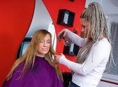 Woman in hair salon — Stock Photo
