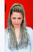 Young woman with dreadlocks — Stock Photo