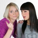 Two teenage girlfriends — Stock Photo #26374973