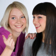 Two teenage girlfriends — Stock Photo #26375041