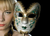 Woman face with mask — Stock Photo
