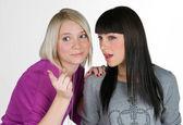 Two teenage girlfriends — Stock Photo