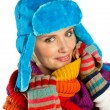 Stock Photo: Womportrait in winter clothes