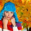 Woman portrait in autumn — Stock Photo