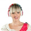 Portrait of woman with earmuff — Stock Photo #26579983
