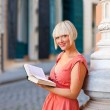 Woman with book — Foto Stock