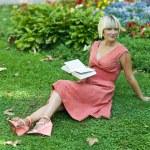 Woman reading book — Stock Photo #26580691