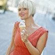Woman with ice cream — Stock Photo #26580879