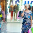 Woman in shopping — Stock Photo