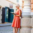 Woman with book — Stock Photo #26581509