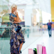 Woman in shopping mall — Stock Photo #26581911