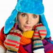 Woman portrait in winter clothes — Stock Photo #26582187