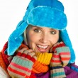 Woman portrait in winter clothes — Stock Photo #26582963