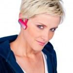 Woman with headphones — Stock Photo #26586587