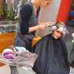Hair stylist at work — Stock Photo #26591355