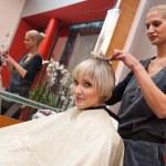 Hair stylist at work — Stock Photo #26591405