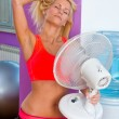 Woman with fan — Stock Photo #27435849