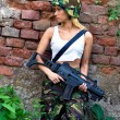 Army girl with rifle — Stock Photo #27436661
