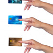 Woman hand with credit card — Stock Photo