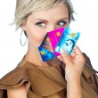 Woman with credit cards — Stock Photo #28228709