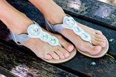 Kvinna fötter — Stockfoto