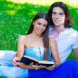 Young couple with book — Stock Photo #28406061