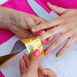 Stock Photo: Womhand on manicure