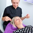 Threading hair removal — Stock Photo #32040399