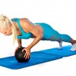 Fit woman working on push up — Stock Photo #32042581