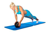 Fit woman working on push up — Stock Photo