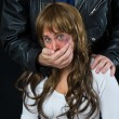 Stock Photo: Domestic violence scene