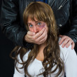 Domestic violence scene — Foto Stock