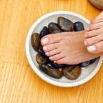 ������, ������: Female feet on spa treatment