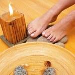 Female feet on spa treatment — Stock Photo #33926391
