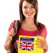 Stock Photo: Teen girl learning english language